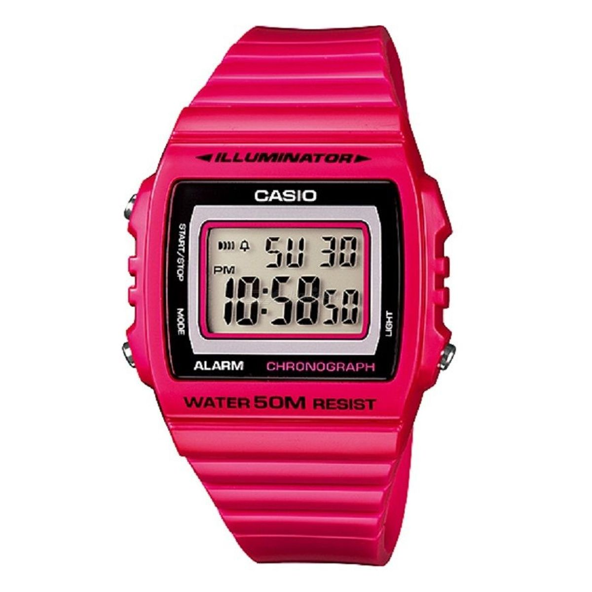 CASIO W-215H-4AVDF Men's Wristwatch - Pink (Without Box)