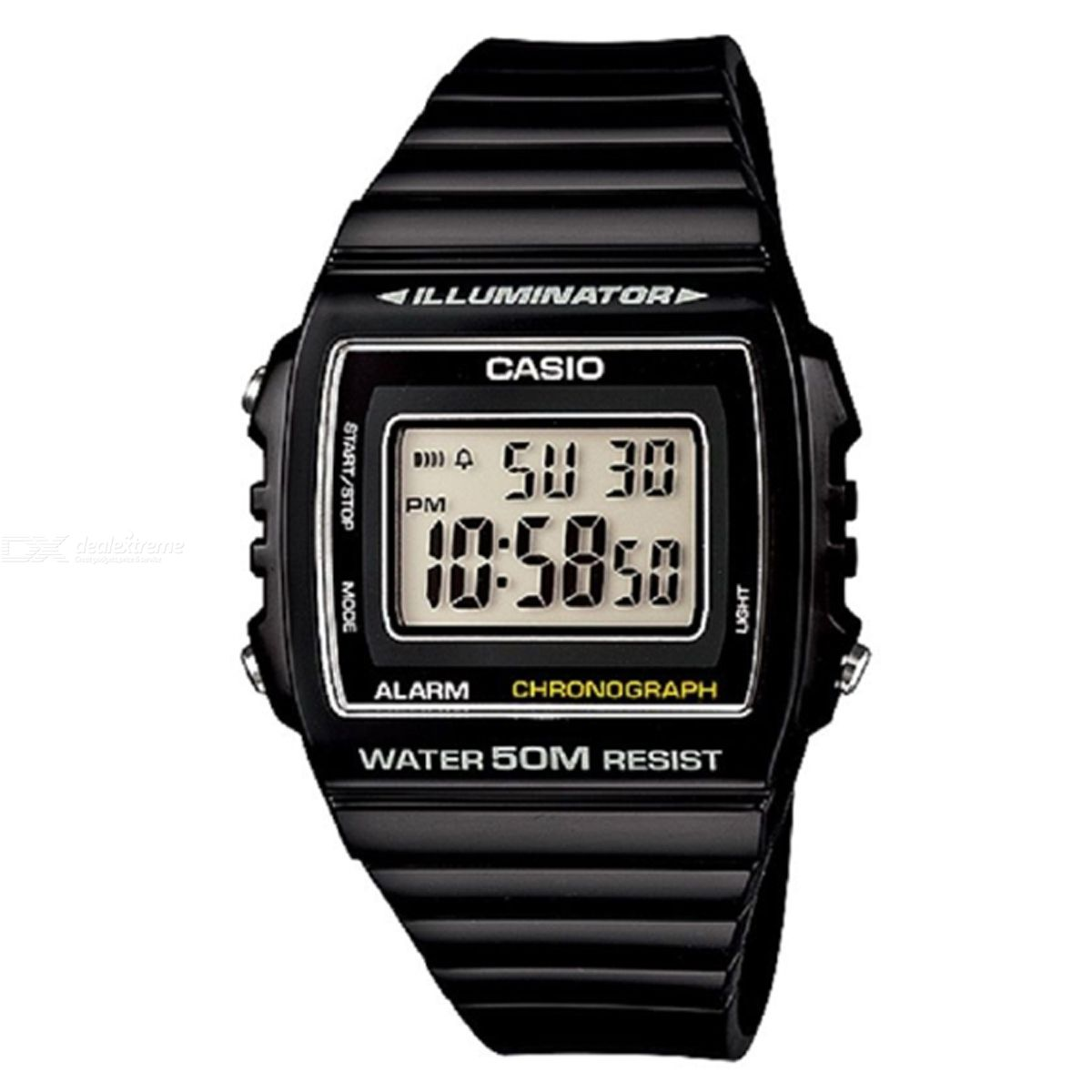 CASIO W-215H-1AVDF Men's Wristwatch - Black (Without Box)