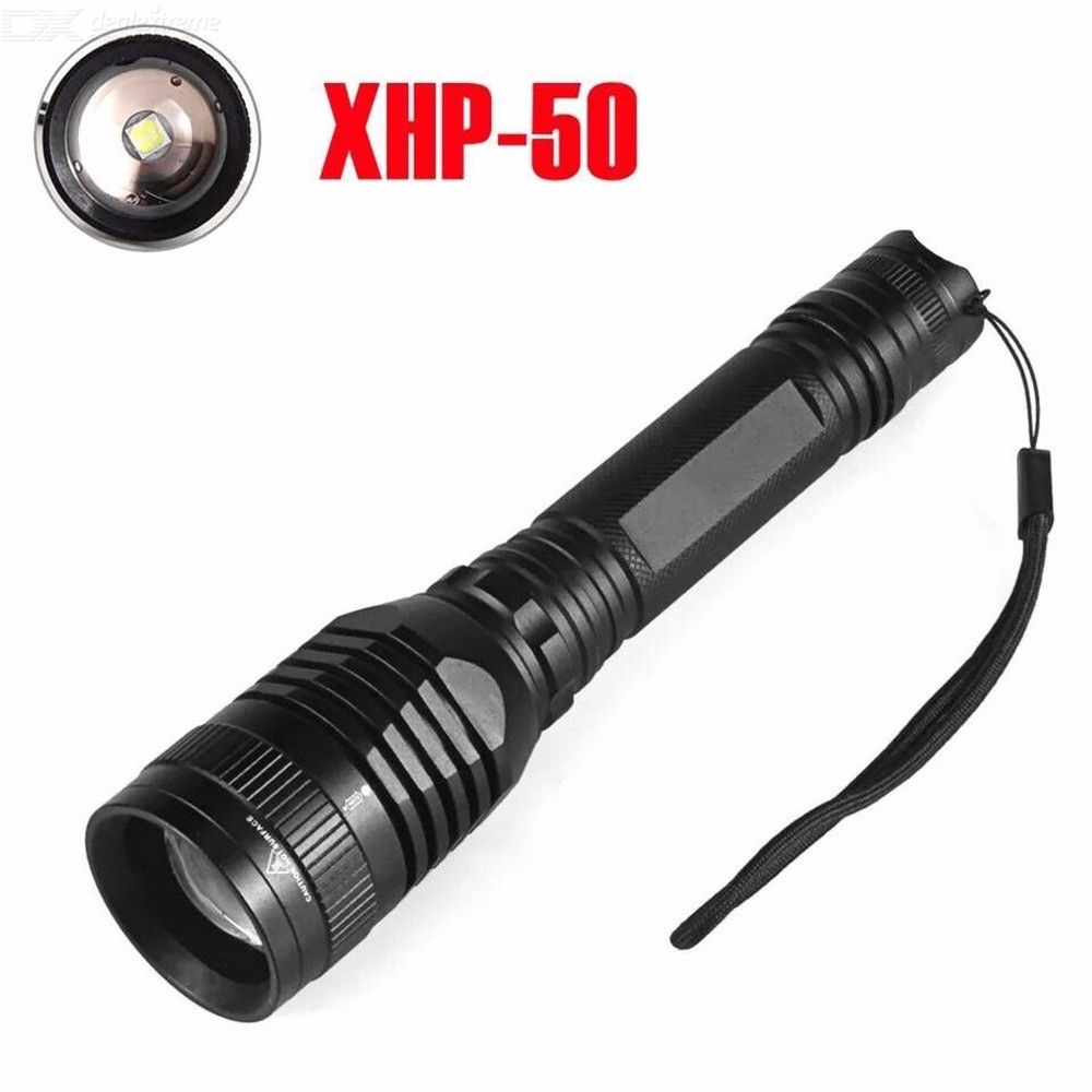 Tactical Flashlight 3,800LM Zoomable Torch Light With 5 Light Modes