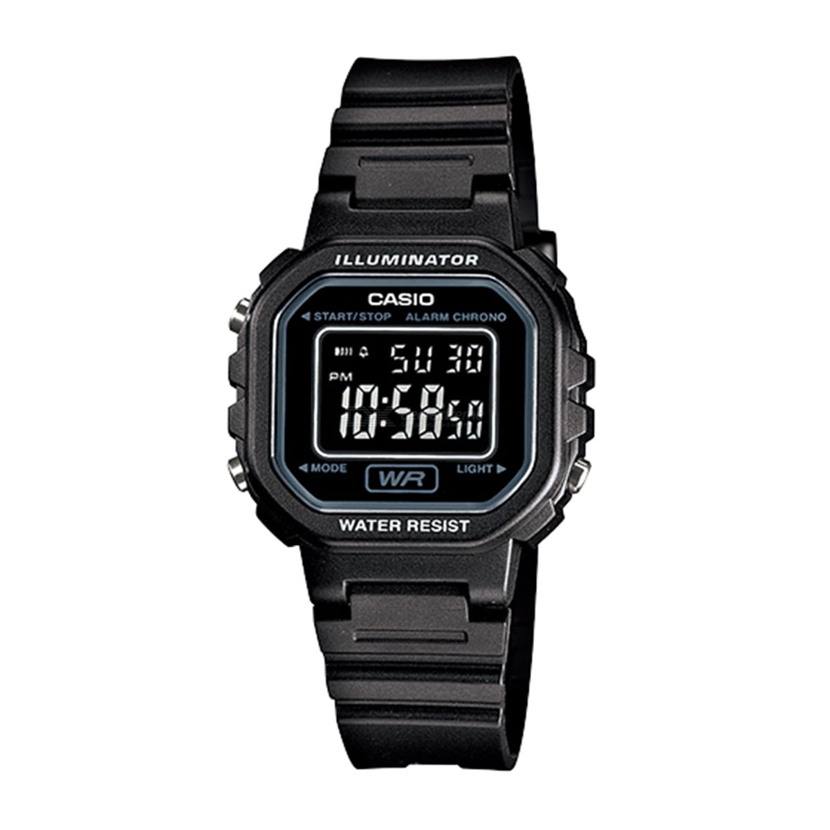 Casio LA-20WH-1B Chronograph Alarm LCD Digital Watch - Black (Without Box)