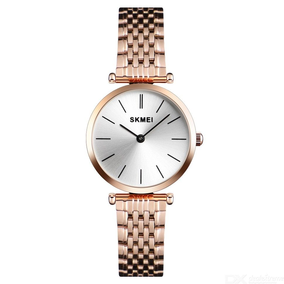 SKMEI Simple Quartz Wristwatches Women Waterproof Watch With Stainless Steel Strap 1458