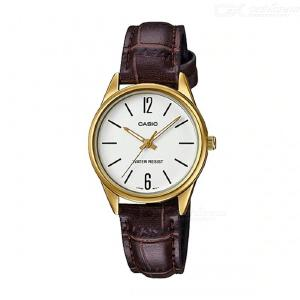 Casio LTP-V005GL-7B Standard Leather Band Analog Ladies' Watch-Brown and White(Without Box)