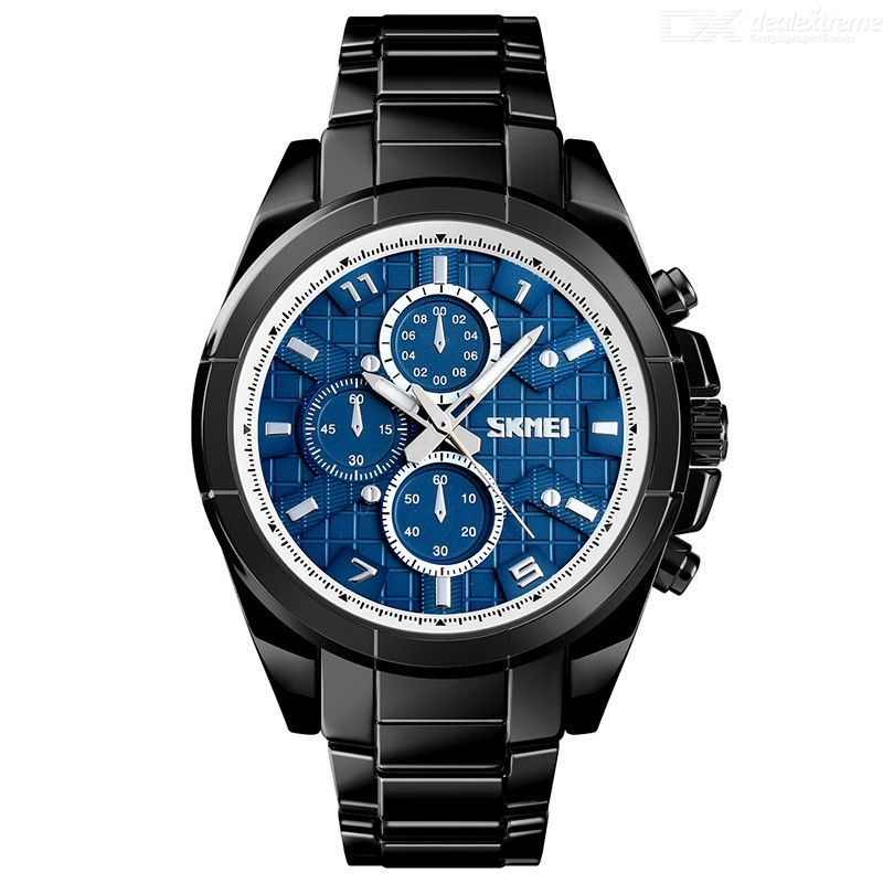 SKMEI Multifunction Men Quartz Wristwatches Bluetooth Pedometer SOS Remind Watch With Stainless Steel Strap 1461