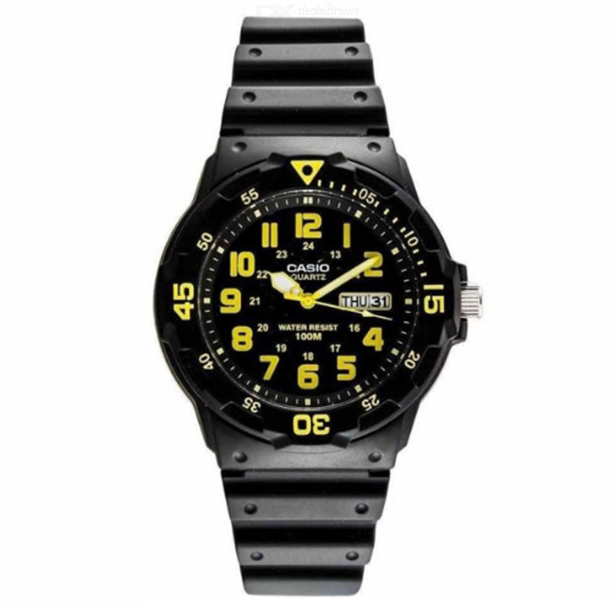 CASIO MRW-200H-9BVDFMen's Analog Watch - Black + Yellow (Without Box)