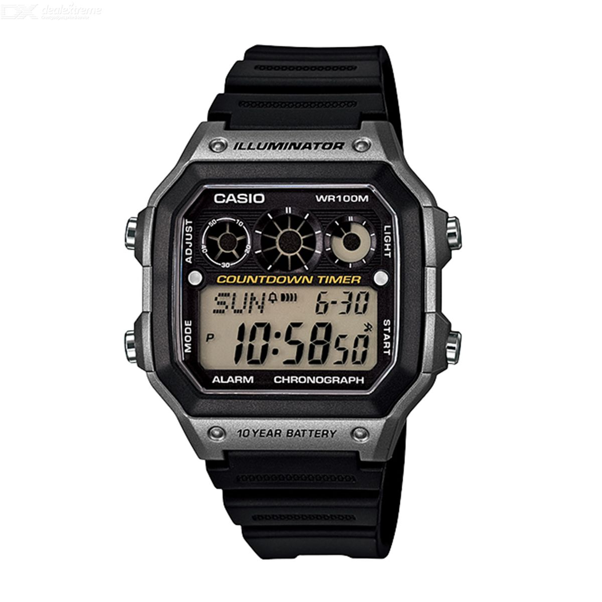 Casio AE-1300WH-8A Brand New Digital Sprot Watch - Black and Silver (Without Box)