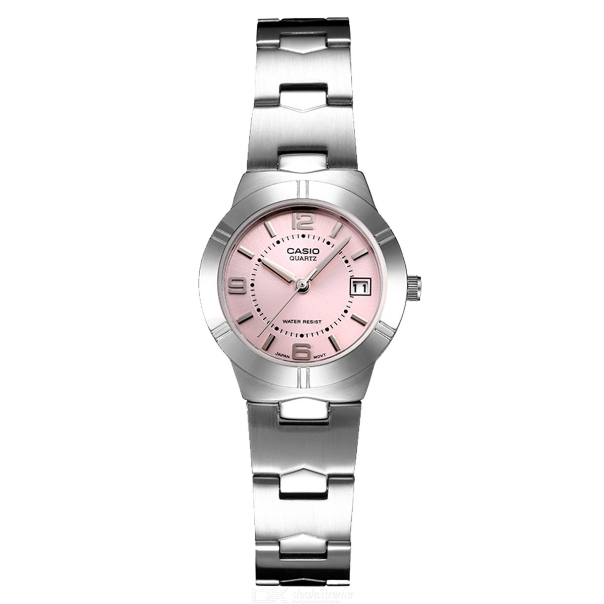 Casio LTP-1241D-4A Stainless Steel Analog Watch-Silver and Pink(Without Box)