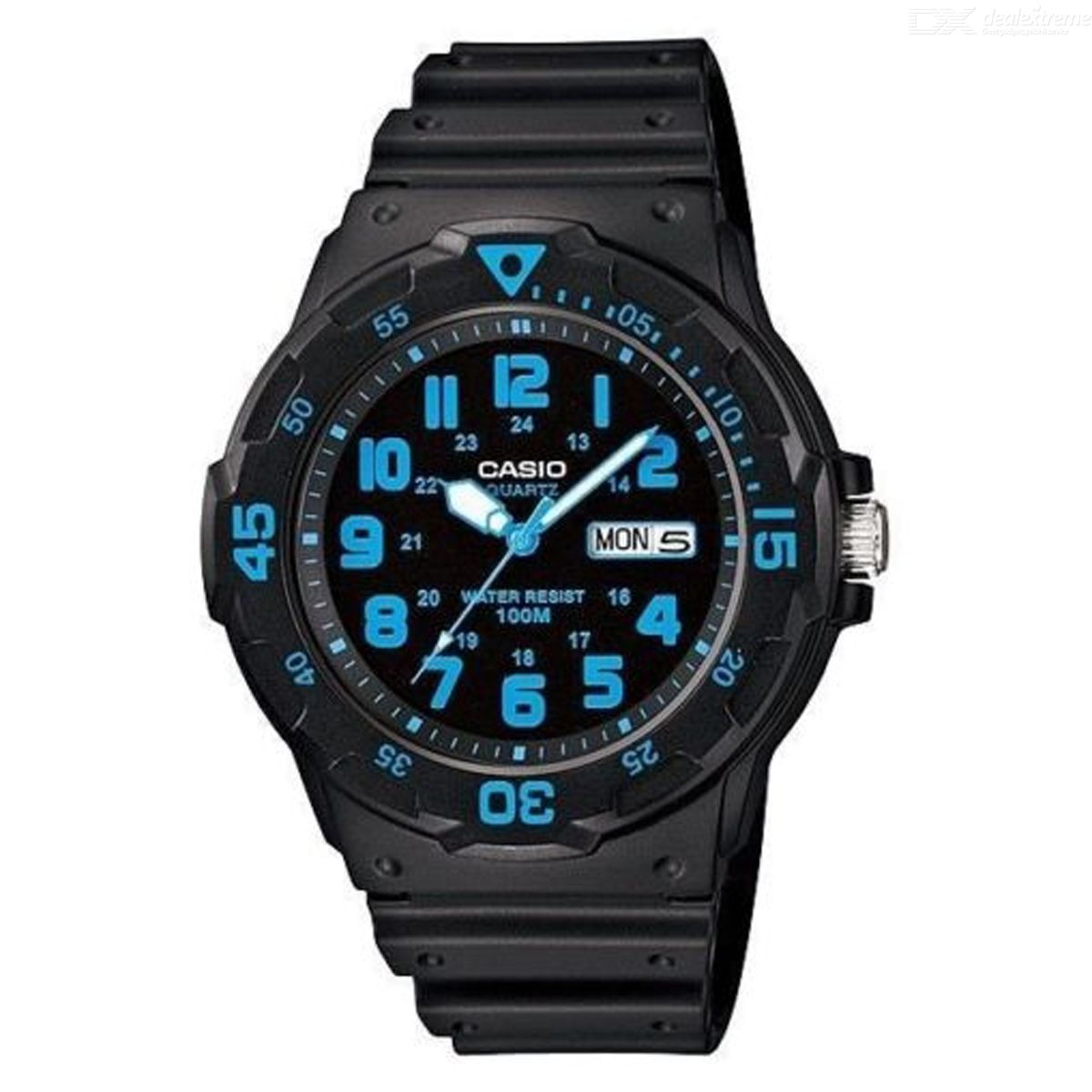 CASIO MRW-200H-2BVDF Men's Analog Watch - Black + Blue (Without Box)
