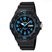 CASIO-MRW-200H-2BVDF-Mens-Analog-Watch-Black-2b-Blue-(Without-Box)