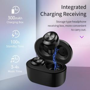 True Wireless Bluetooth Earbuds Mini In-ear Wireless Headphones Bluetooth V 5.0 W/Charging Case