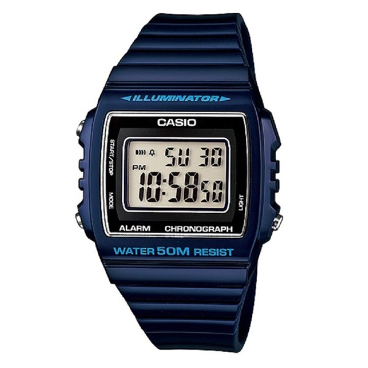 CASIO W-215H-2AVDF Men's Wristwatch - Blue + Black (Without Box)