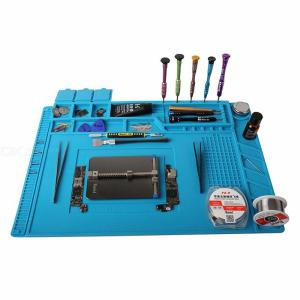 S-160 45x30cm Soldering Mat Magnetic Heat Insulation Silicone Pad Phone Computer Maintenance Tool