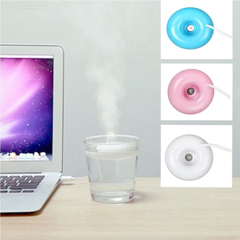 Mini Portable Donuts USB Air Humidifier Purifier Aroma Diffuser Steam For Home