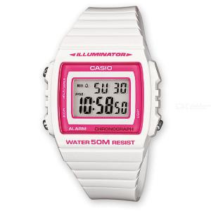 CASIO W-215H-7A2VDF Men's Wristwatch - White + Pink (Without Box)