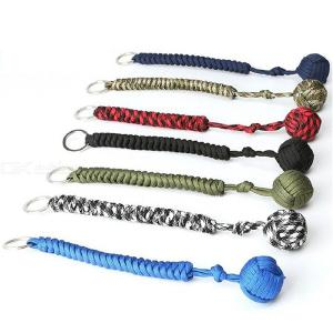 Outdoor Self Defense Rope Round Ball Pendent Umbrella Rope 25 X 2cm