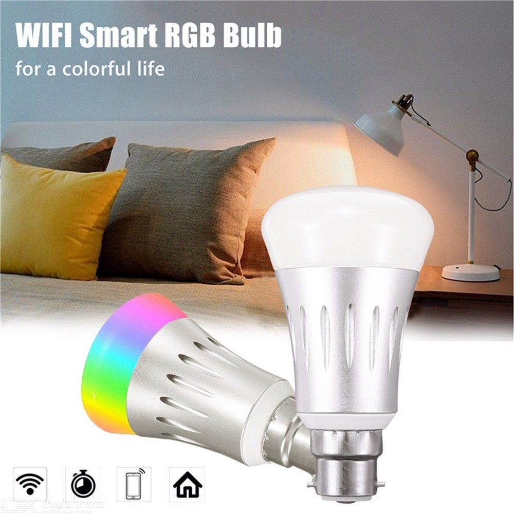 Smart LED Light Bulb 7W WiFi Control RGBW Color Changing Lamp