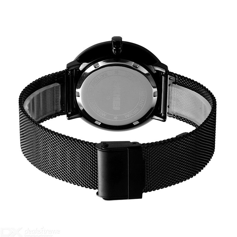 SKMEI Simple Men Quartz Wristwatches Waterproof Business Watch With Stainless Steel Strap 9185