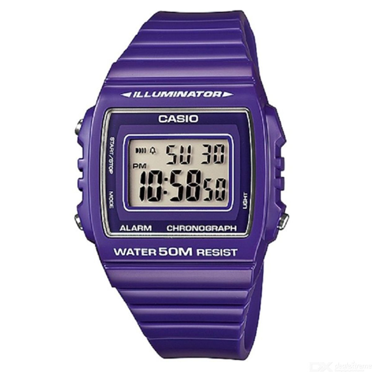 CASIO W-215H-6AVDF Men's Wristwatch - Purple (Without Box)