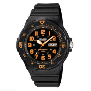CASIO MRW-200H-4BVDF Men's Analog Watch - Black + Orange (Without Box)