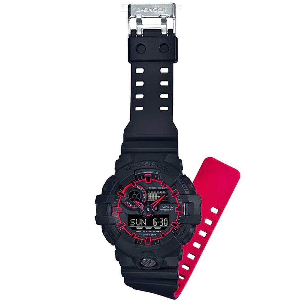 Casio G-shock GA-700SE-1A4 Sports Watch - Black + Red