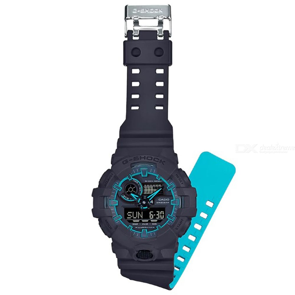 Casio G-shock GA-700SE-1A2 Sports Watch - Black + Blue