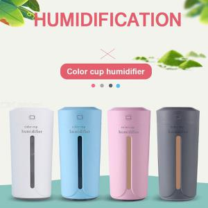 Light Cup Humidifier Ultrasonic USB Charging Humidifier Air Essential Oil Aroma Diffuser Purifier