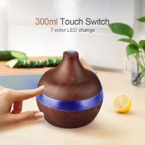 Ultrasonic-USB-Humidifier-Electric-Essential-Oil-Diffuser-300ml-Wood-Grain-Aroma-Mist-Maker-with-LED-Lights-for-Home