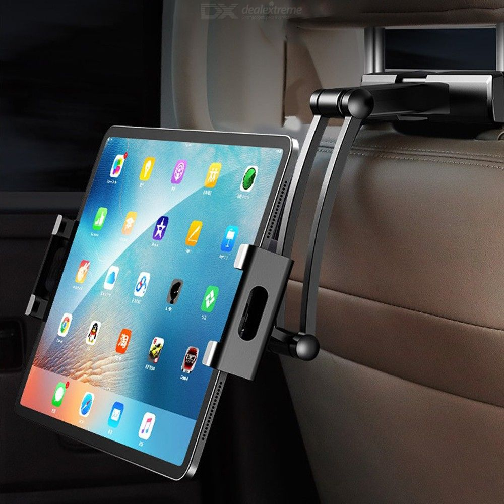 Car Back Seat Tablet Holder 360 Degree Rotation Range 18 – 35cm Extendable Length Compatible For 5 Inch And Above Mobile