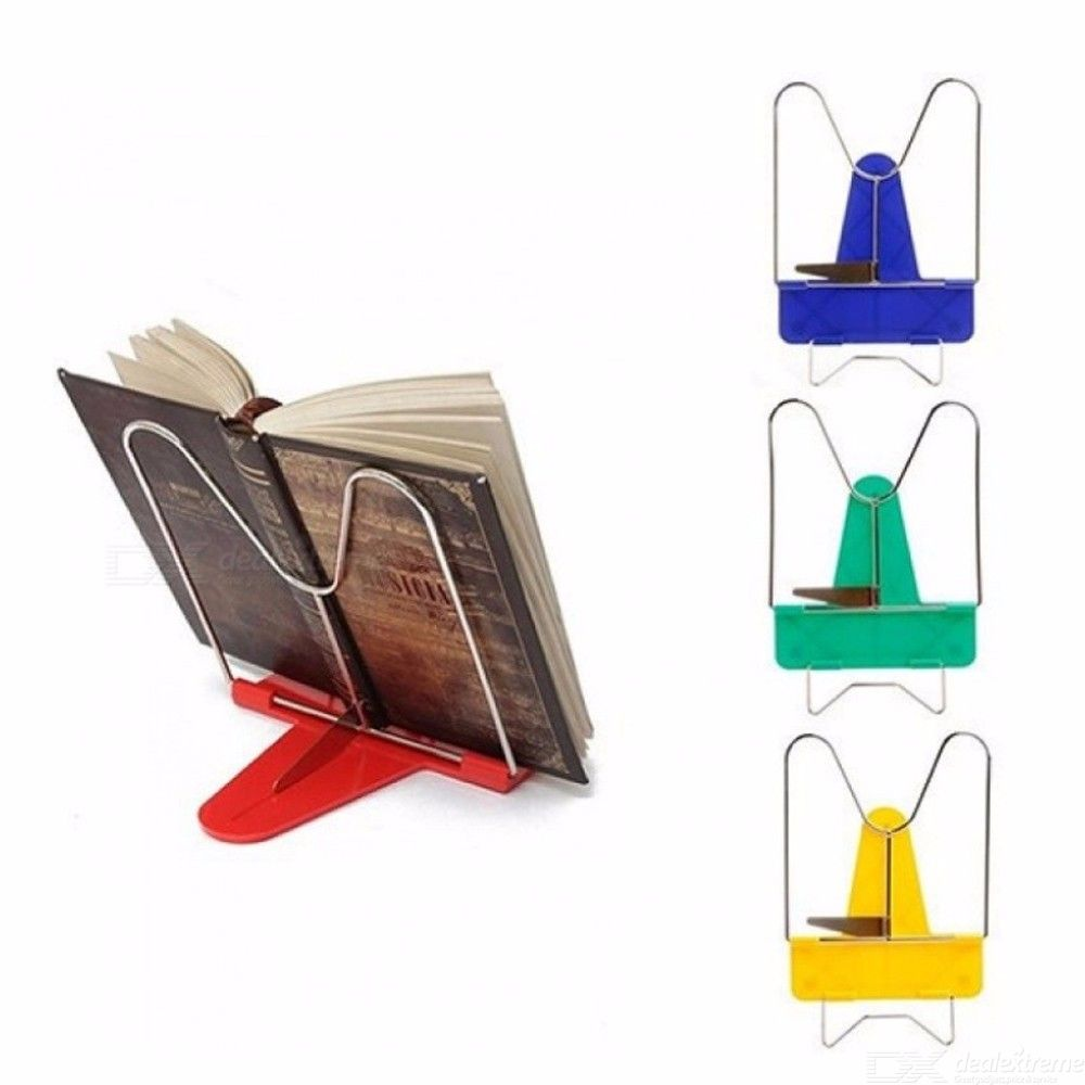 Book Holder Portable Foldable Metal Reading Adjustable Angle Reading Book Stand Document Bookends