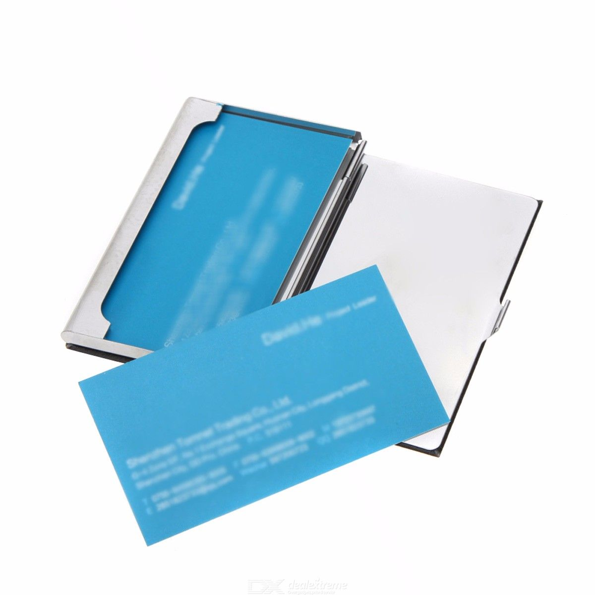 High Quality Stainless Steel Business Name Card Case PU Leather Mirror Holder