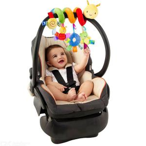 Cute Lovely Baby Rattle Stuffed Plush Doll Bed Hanging Toy Infant Color Label Winding Toys