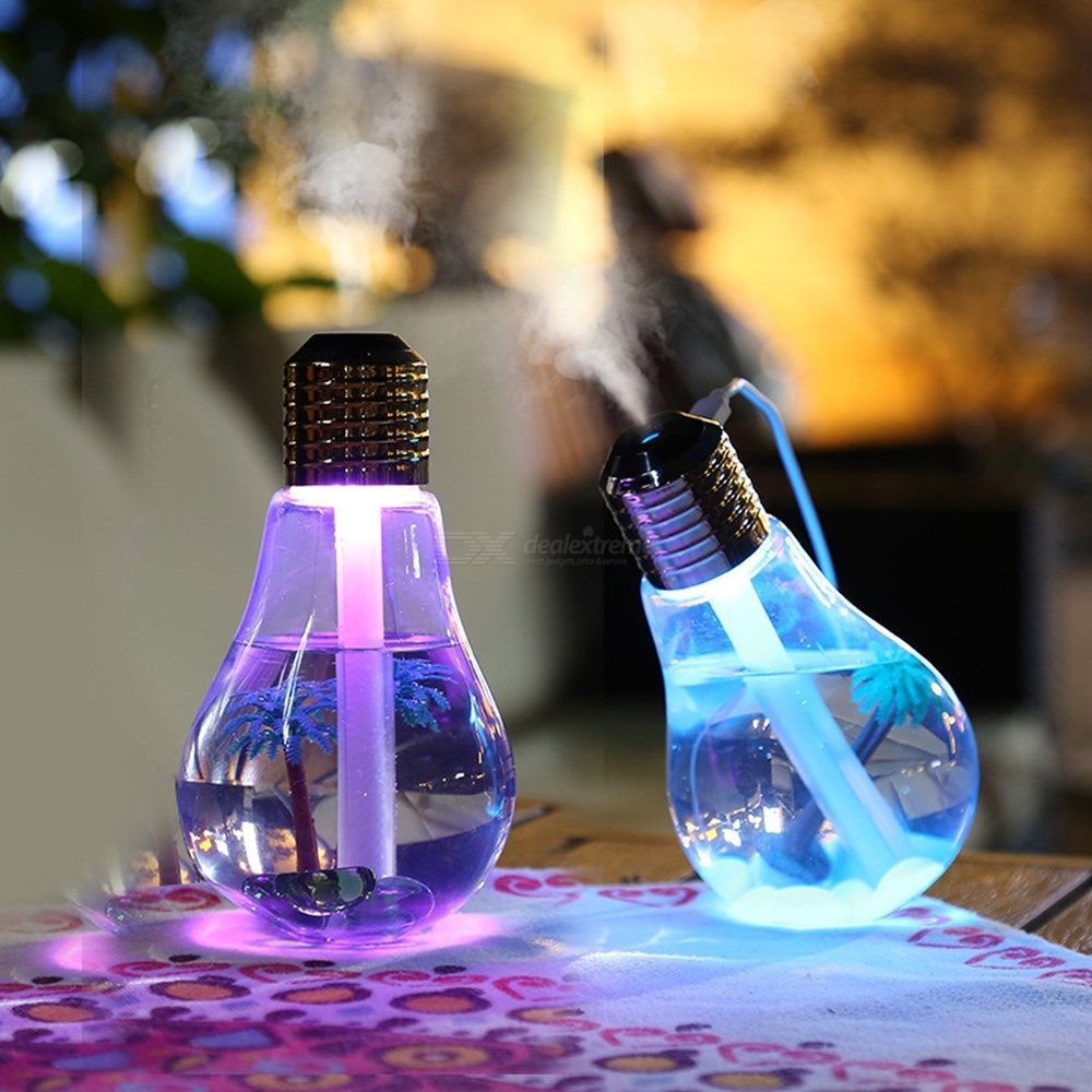 Fry's Store USB Colorful Bulb Humidifier Air Diffuser Purifier Atomizer Essential Oil Diffuser Aroma Mist Maker Fogger