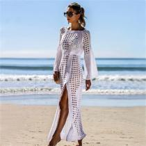 Womens-Maxi-Cover-Up-Sexy-Openwork-Beach-Dress-With-Side-Slit