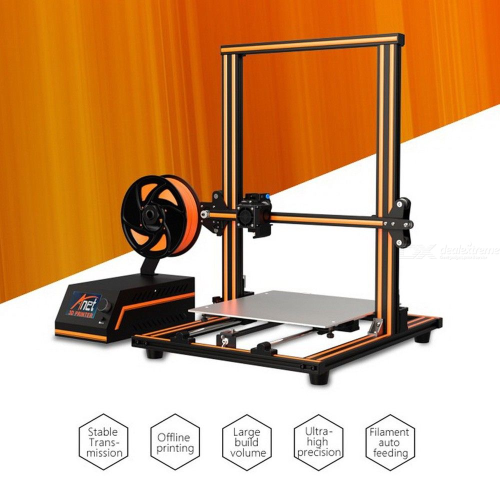 Anet E16 High Precision 3D Printer-Assembly 300 * 300 * 400mm Aluminum Alloy Frame LCD Display Power Filament