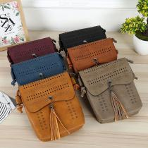 Women-PU-Leather-Vintage-Hollow-Tassels-Handbag-Rivet-Messenger-Bags