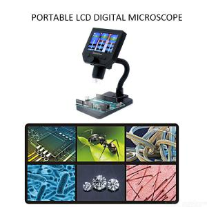 G600 600X HD 3.6MP 8 LEDs Portable LCD Digital Microscope 4.3 Inch Electronic HD Video Endoscope Magnifier Camera