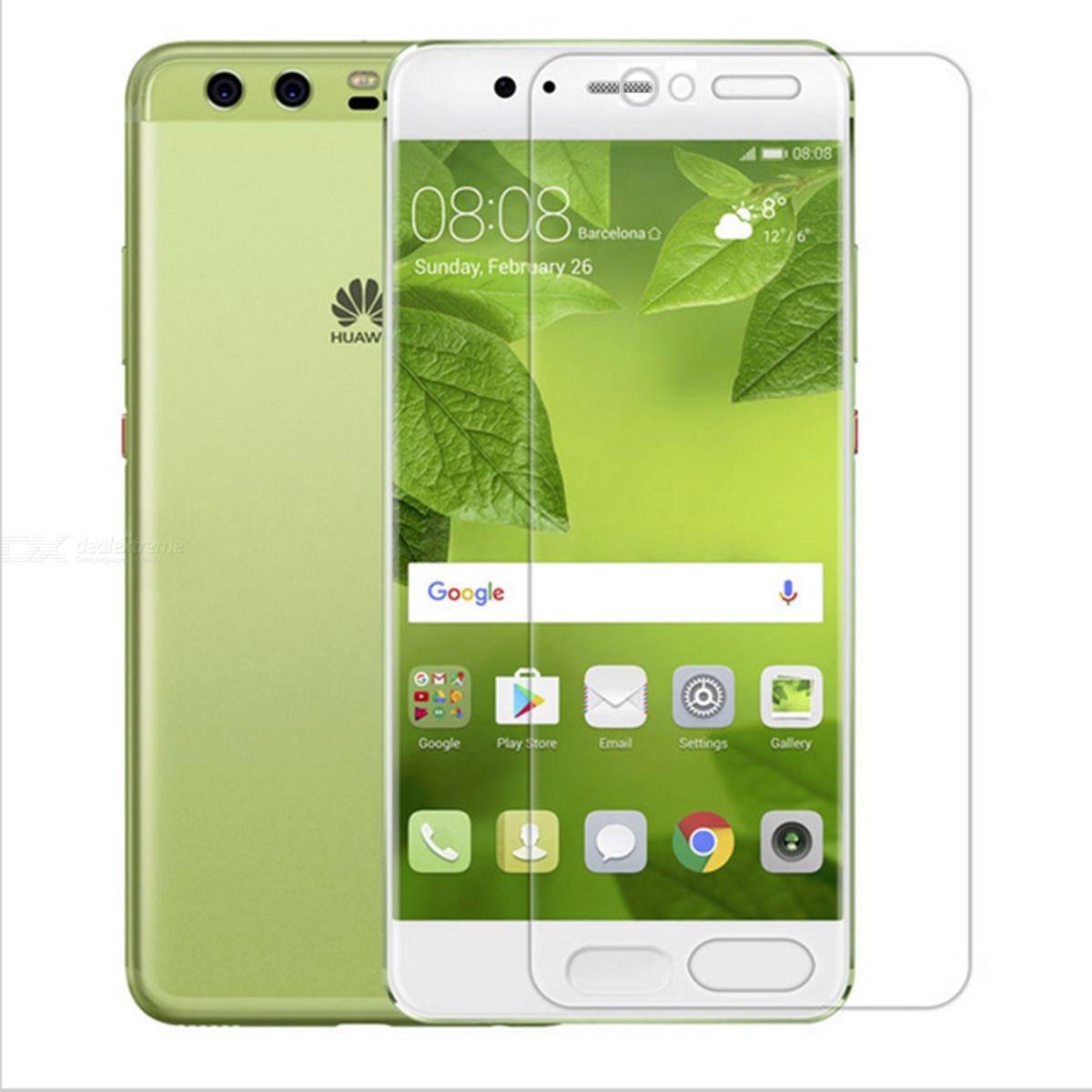 Dazzle Colour Tempered Glass Screen ProtectorS for Huawei P10 /P10 PLUS--Transparent