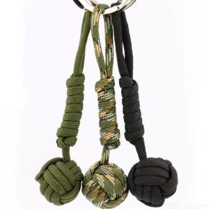 Paracord Survival Keychain Steel Ball Bearing Self Defense Lanyard Outdoor Climbing Camping Security Protection Tool