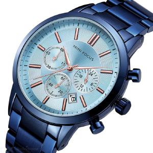 MF0188G Men Quartz Wristwatches With Calendar Waterproof Classic Watch With Stainless Steel Strap