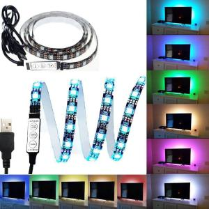 100CM 60 LED Strip Light 3 Models Flexible TV Bias 5V USB IP65 Waterproof Color Changeable Light With RGB Remote Controller