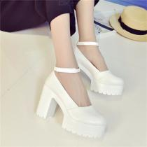 Straps-Round-Head-Waterproof-Platform-High-Heels-Thick-With-A-Word-Buckle-Sexy-Shoes-For-Women