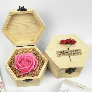 Body Wedding Valentine's Day With Wooden Box Soap Flower Fragrant Artificial Rose Romantic Anniversary Gift