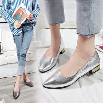 Women-PU-Loafers-Pointed-Toe-Bling-Casual-Rubber-Flat-Shoes