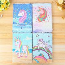 A5-Notebook-Color-Sequin-Unicorn-Diary-Notebook-Journal-Personal-Diary-Note-Book