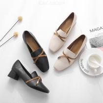 Retro-Single-Shoes-Comfort-Small-Leather-Shoes-Pointed-Toe-Square-Heel-Lady-Slip-On-Flat-Loafers