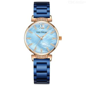 MINI FOCUS MF0227L Quartz Wristwatches Diamond Watch With Stainless Steel Strap For Women