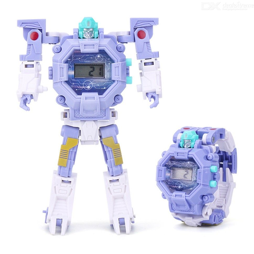 Deformation Robot Action Transformation Wristwatch Toy Kids Electronic Watch Creative Educational Toys
