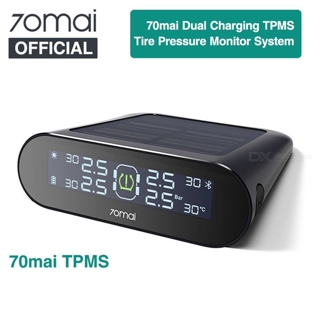 70mai TPMS English APP Tire Pressure Tester Monitor With Car Gauge Sensor - Black