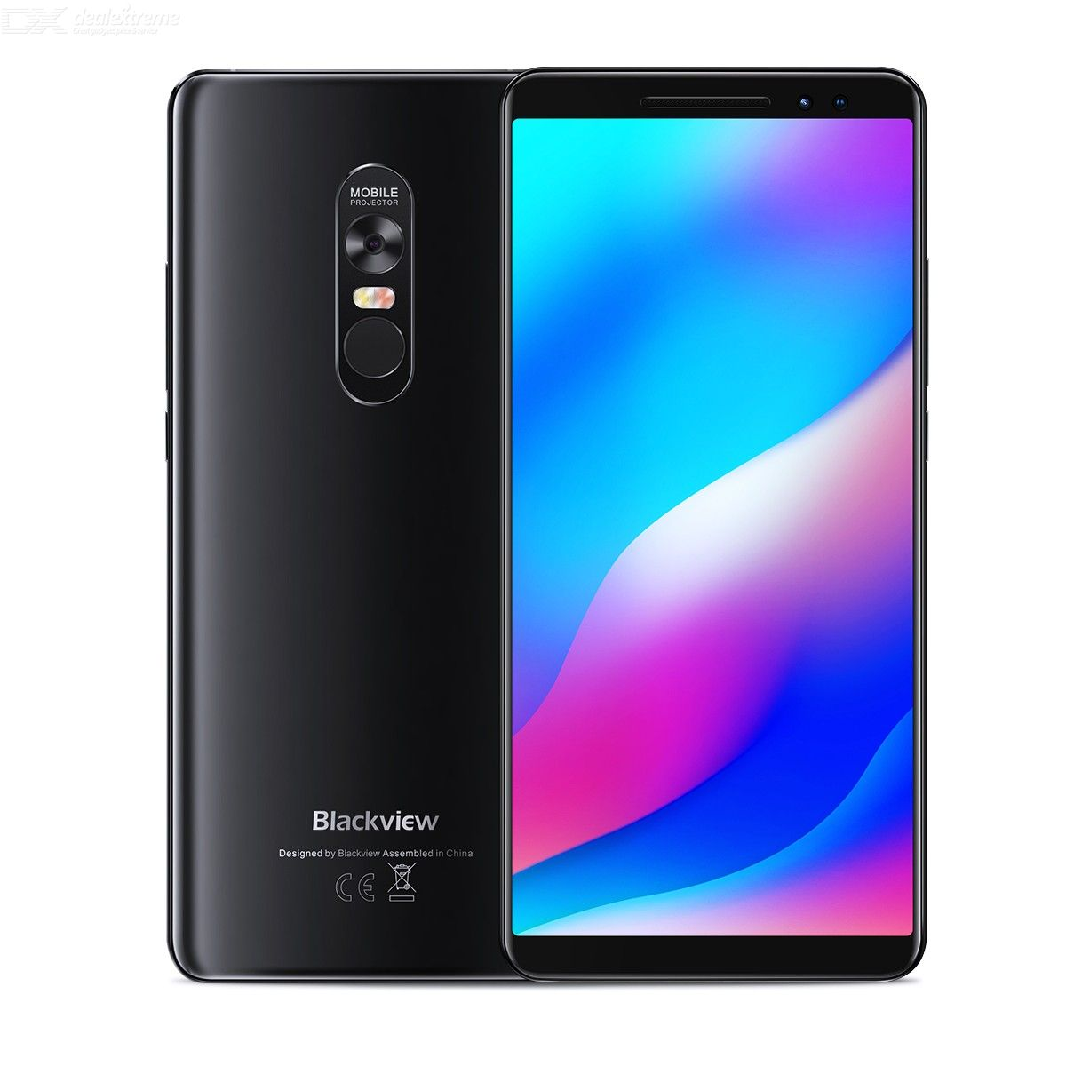 Blackview Max1 6.01 inch  6GB RAM 64GB ROM MTK6763T Octa-Core Smartphone Support Projection Playback Movie Function - Black