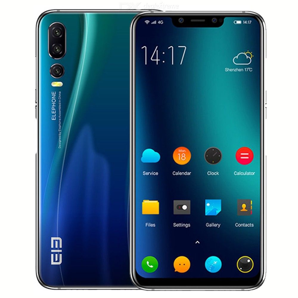 ELEPHONE A5 4G LTE Smartphone 6GB + 128GB Helio P60 MTK6771 6.18 Inch Incell FHD+ Full Screen Triple Camera Android