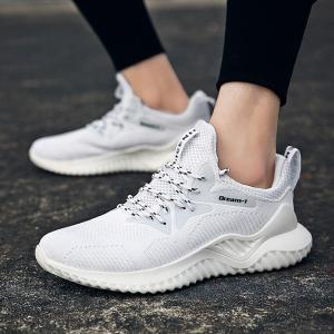 Lightweight Woven Sneakers Breathable Cushioning Board Shoes For Men